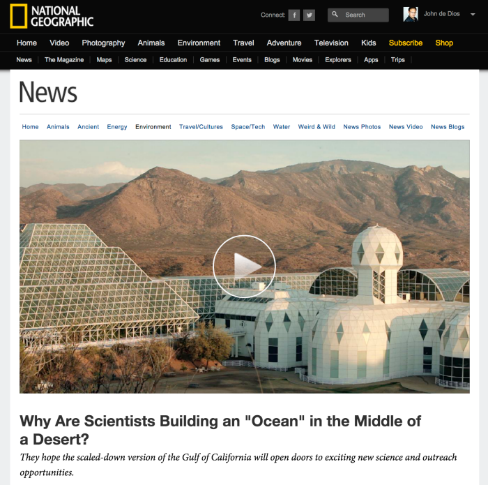 National Geographic's Why Are Scientists Building an 'Ocean' in the Middle of a Desert?